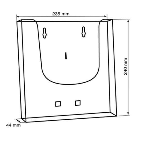 Crtez ekonomik zidnog stalka za flajere sa jednim dzepom, format A4