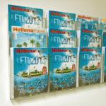 Taymar zidni drzac za brosure na tri nivoa, format A4, slika iz prostora