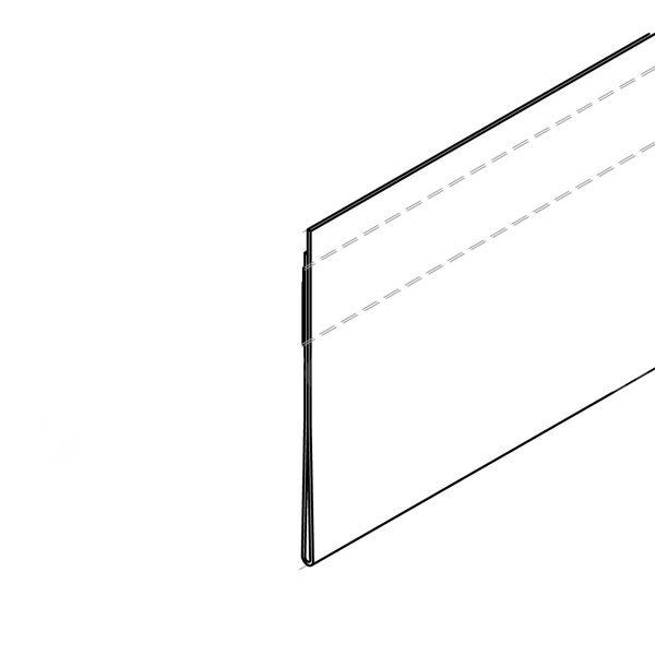 Antirefelks samolepljive trake za cene, skica