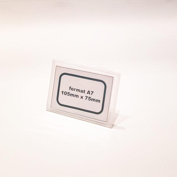 Kaseta za cene providna, format A7 sa podupiracem