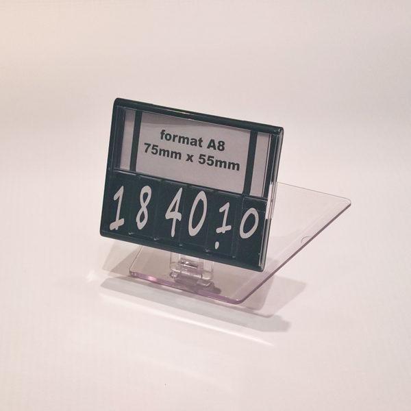 Kaseta za cene sa brojevima format A8 i pokretnim postoljem visine 25mm