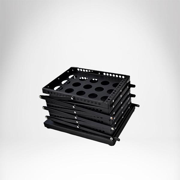 ZIG ZAG sklopivi podni stalk za flajere sa 6 dzepova A4 formata slika sklopljenog stalka