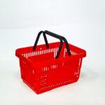 Plasticna-potrosacka-korpa-sa-dve-rucke,-crvena-22l