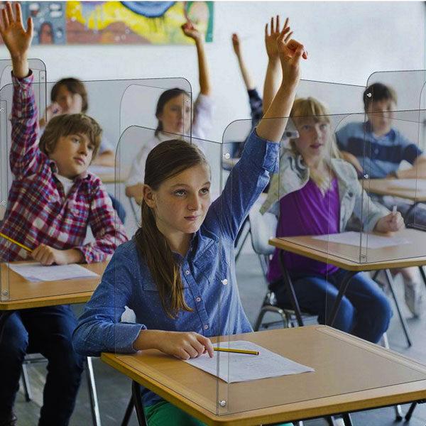 Klirttna zastita za učenike u školskim klupama, slika iz primene