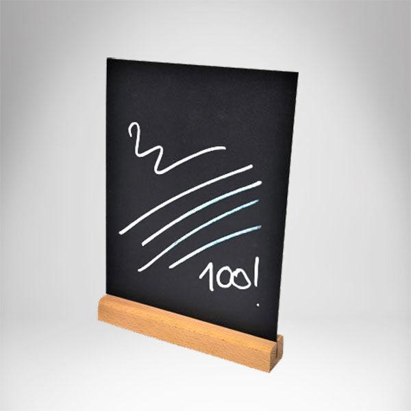Drvena info tabla sa piši briši tablom, svetla